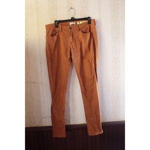 Pumpkin Spice Orange Skinny Jeans